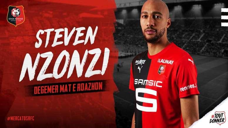 Steven Nzonzi est Rennais. GOAL
