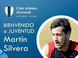 Imagen de bienvenida de Juventud Las Piedra a Martín Silvera. ClubAtléticoJuventud