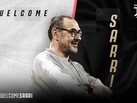 Maurizio Sarri é o novo técnico da Juventus. JuventusFC