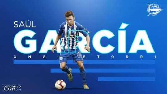 Saúl García signe à Alavés. AFP