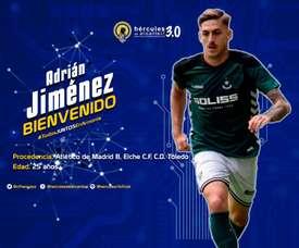 Adrián Jiménez fue presentado con el Hércules. Hércules
