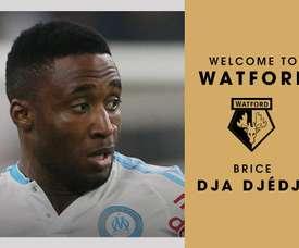 Brice Dja Djédjé a été transféré au club anglais de Watford pour quatre ans. Watford