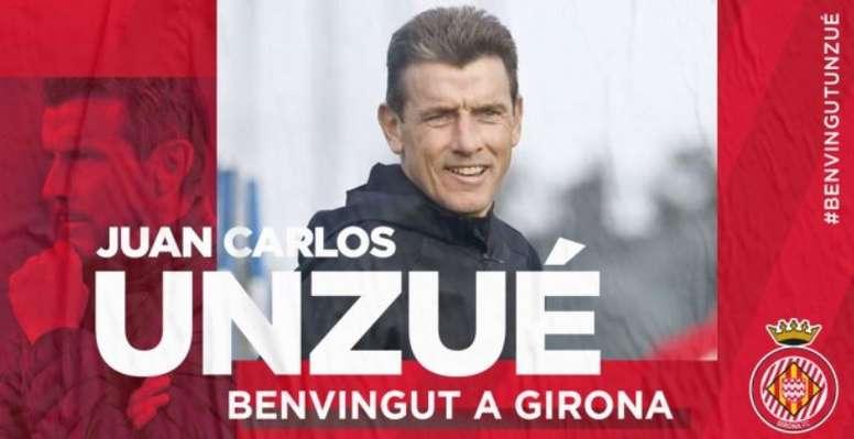 Juan Carlos Unzué, nuevo entrenador del Girona. GironaFC