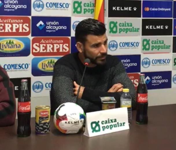 Braulio destacó la fuerza que da al Alcoyano el punto ante el Hércules. CDAlcoyano