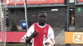 Brobbey, máximo goleador de Holanda en el Europeo Sub 17. Twitter/AFCAjax