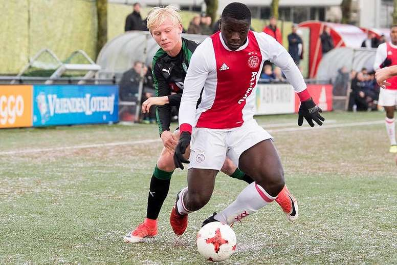 Brian Brobbey has caught the eye of Real Madrid. Twitter/AFCAjax