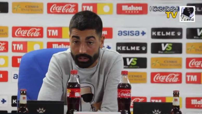 Carlos Martínez admitió que el inicio de competición no es del todo bueno. Twitter/CFHercules