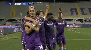 La Fiorentina venció por la mínima al Torino. Captura/ESPN