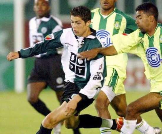 Imagen de Cristiano Ronaldo em uma partida com o Sporting de Portugal. EFE