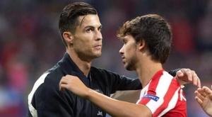 Cristiano Ronaldo and Joao Félix. EFE