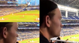 De Ligt is in Florida on holiday watching baseball. Instagram/AnnekeeMolenaar