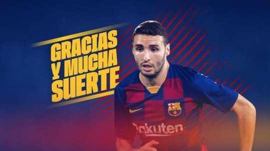 He has left Barcelona. Twitter/FCBarcelonaB