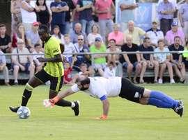 Dwamena anotó seis goles en la victoria. Twitter/RealZaragoza