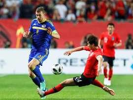 Dzeko, un fijo en la Selección Bosnia. EFE
