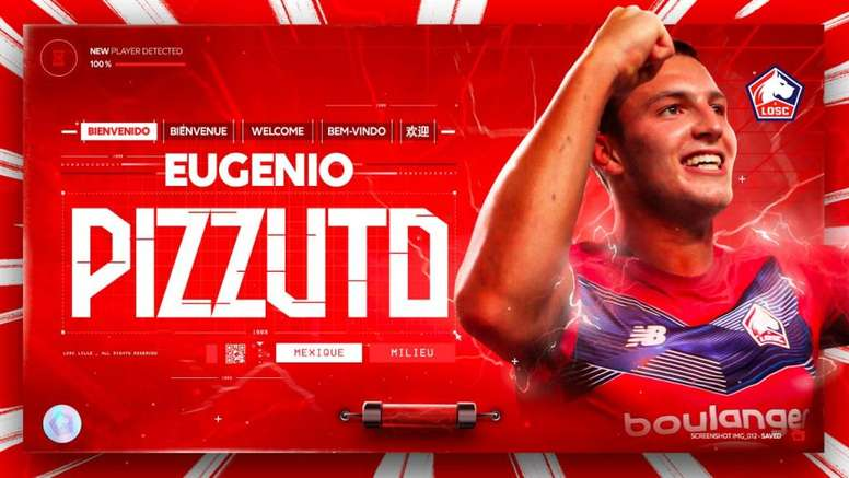 Eugenio Pizzuto has signed for Lille. Twitter/losclive