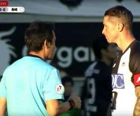 El español dejó ver su peor cara. Captura/SportTV