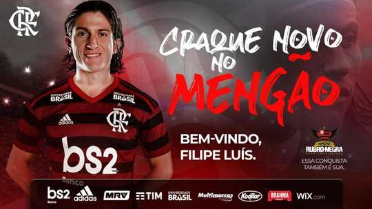 Filipe Luis has officially joined Flamengo. Twitter/Flamengo
