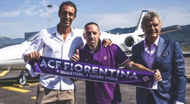 Ribéry, novo jogador da Fiorentina. Twitter/acffiorentina
