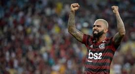 Gabigol ya está al nivel de Zico en la historia de Flamengo. Twitter/Flamengo_es