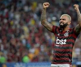 Um golaço para liderar na classificação e na artilharia. Twitter/Flamengo_es