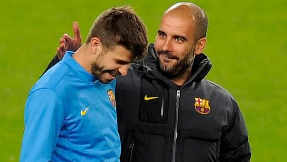 Piqué pudo dejar el Barça con Guardiola. AFP