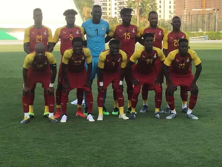 Ghana no pudo pasar del empate ante Sudáfrica. Twitter/ghanafaofficial