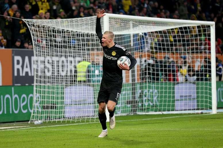 Debut inmejorable de Haaland con el Borussia Dortmund. Twitter/BVB