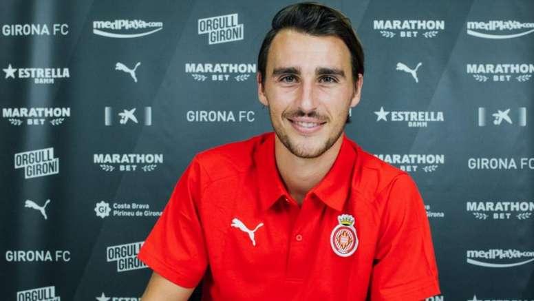 Ignasi Miquel, baja en el Girona. Twitter/GironaFC