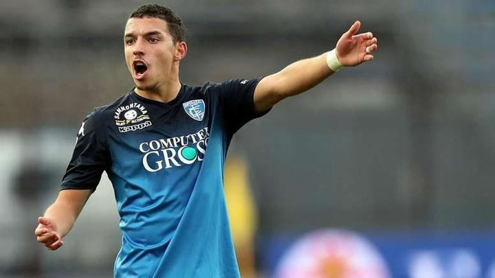 Solo un jugador tiene más de 30 años en el Empoli. AFP
