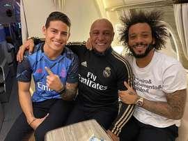 Le jour où Roberto Carlos a évité le prêt de Marcelo. Instagram/JamesRodriguez