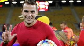 Logró el primer 'hat trick' de su club: el español que ya hace historia en Polonia. Jagiellonia