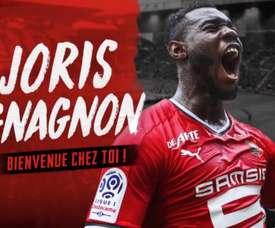 Gnagnon has returned to Rennes on loan. Captura/staderennais
