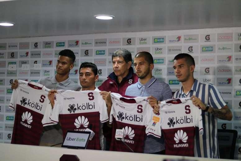 Cuatro refuerzos para Deportivo Saprissa. Twitter/SaprissaOficial