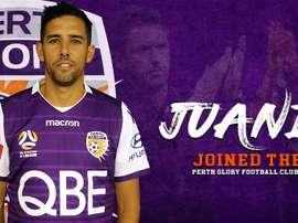 Juande empieza su aventura australiana. Twitter/PerthGloryFC