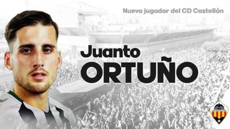 Juanto Ortuño deja el Córdoba y se marcha al Castellón. Twitter/CD_Castellon