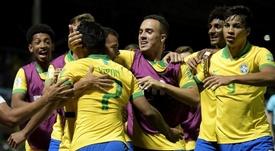 Brasil saca su billete en primera clase. Twitter/CBF