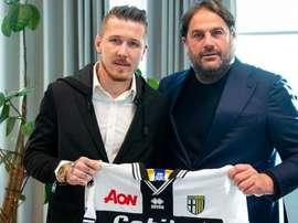 El eslovaco deja atrás su aventura en el Trabzonspor. Twitter/Parma