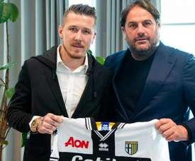 Le Slovaque laisse son aventure au Trabzonspor derrière lui. Twitter/Parme