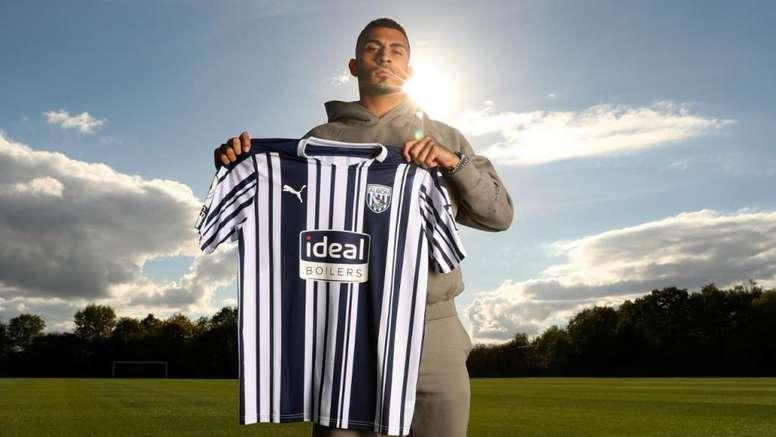 Karlan Grant, nueva incorporación para el West Bromwich Albion. Twitter/WBA