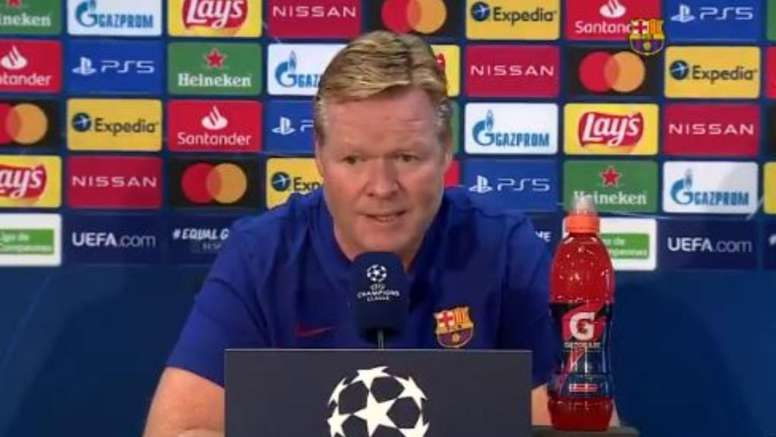 Koeman justificou escolha por poupar Lionel Messi. Captura/FCBarcelona