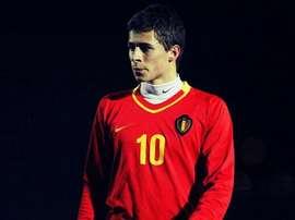 Imagen de Kylian Hazard con la Selección de Bélgica. Twitter