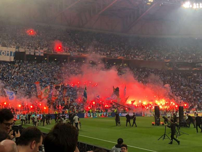 A view of the Marseille fans. Twitter/tjcope