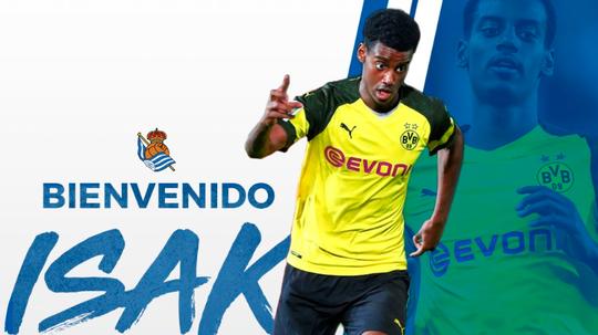 Isak s'engage à la Real Sociedad jusqu'en 2024. Twitter/RealSociedad