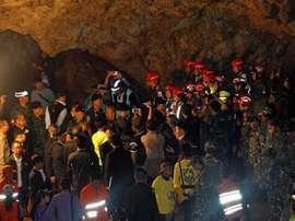 Los 12 niños y el entrenador fueron rescatados. EFE