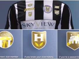 Imagen de la camiseta del St. Mirren y los parches personalizados. Twitter