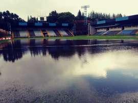 Un diluvio suspendió el duelo entre Huachipato y Temuco. Twitter/Temucooficial