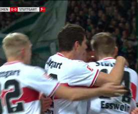 Buen gol del Stuttgart. Captura/Movistar