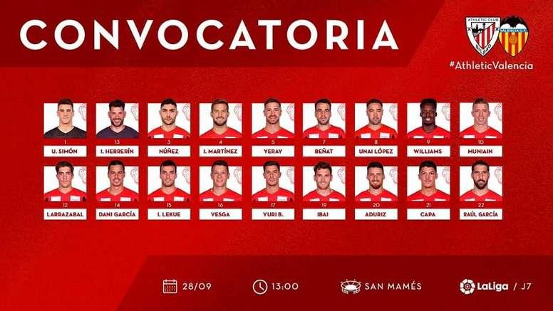 Aduriz y Unai López entran en la lista de Garitano. AthleticClub