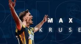 Max Kruse se marcha al Fenerbahçe. Captura/Fenerbahçe