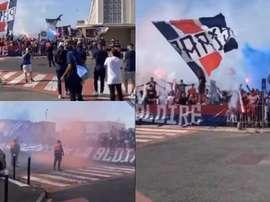 Los aficionados del PSG dieron una imagen lamentable este sábado. Captura/chiringuitochampions